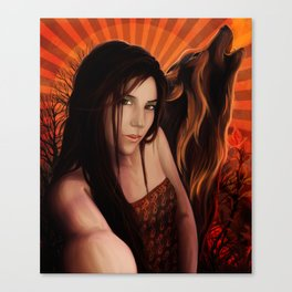 SheWolf Fire Within Canvas Print