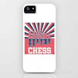Vintage Retro Chess King Queen Piece Grand Master iPhone Case