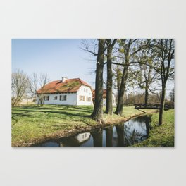 Country Houses Canvas Print