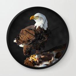 Bald Eagle and Deer Wall Clock