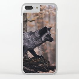 Silver Fox Clear iPhone Case