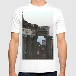 Roman Forum and Colosseum of Rome at Sunset T-shirt