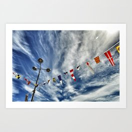 summer flags Art Print