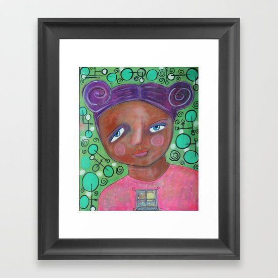 Let the Moonlight In Framed Art Print