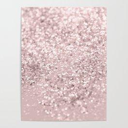 Blush Glitter Dream #1 #shiny #decor #art #society6 Poster