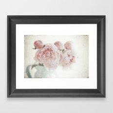 Spring Peony Framed Art Print