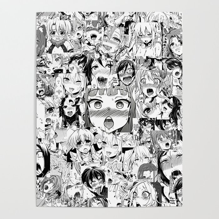 Ahegao classic Poster