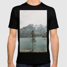Lone Switzerland Tree - Landscape Photography Mens Fitted Tee Black MEDIUM