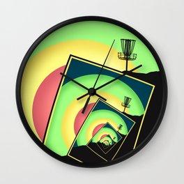 Spinning Disc Golf Baskets 5 Wall Clock