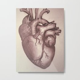 """My Aorta Hates You"" (Red Wash) Metal Print"