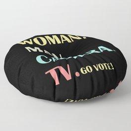 Person Woman Man Camera TV Go Vote Floor Pillow
