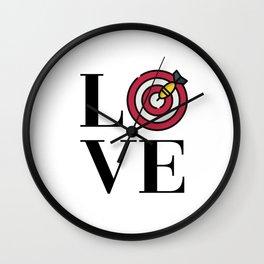 Love Darts Wall Clock