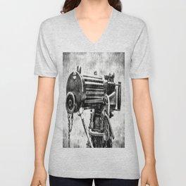 Vickers Machine Gun Vintage Unisex V-Neck