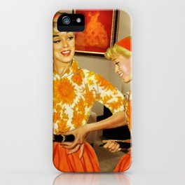 Daughter and Her Narcissistic Mother iPhone Case