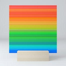 Bright Rainbow Stripes Mini Art Print