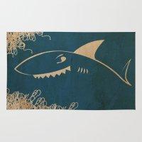 shark Area & Throw Rugs featuring SHARK by rabuzina