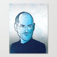 steve jobs Canvas Prints featuring Steve Jobs by BTillustration
