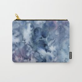 Blue Purple Abstract Watercolor Carry-All Pouch