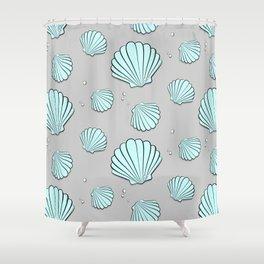 Sea shell jewel pattern Shower Curtain