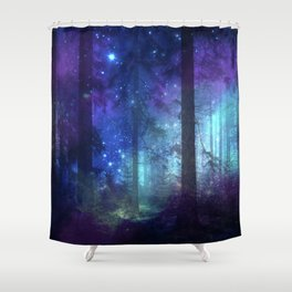 Out of the dark mystic light Shower Curtain