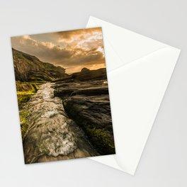 Trebarwith strand sunset Stationery Cards
