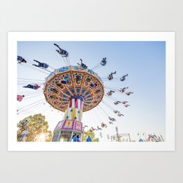 Sunset Swing Art Print