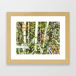 Beautiful green leaf bamboo Framed Art Print