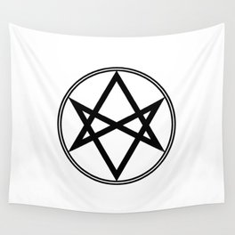 Men of Letters Symbol Black Wall Tapestry