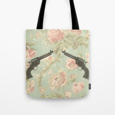 Guns & Flowers Tote Bag