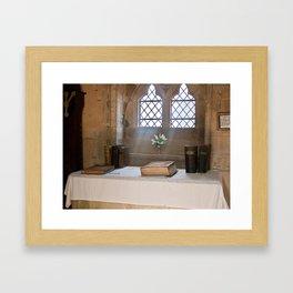 A Place for Prayer. Framed Art Print