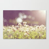 clover Canvas Prints featuring Clover by laughlovephoto
