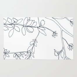 Branches and Leaves, Drawing Rug