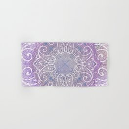 paisley wheel play in light purple Hand & Bath Towel