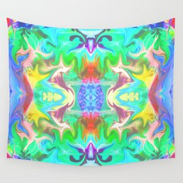 156 - colourful abstract design Wall Tapestry