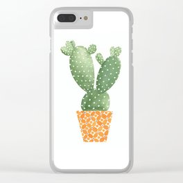 Cactus Best Friends - Prickly Pear Clear iPhone Case
