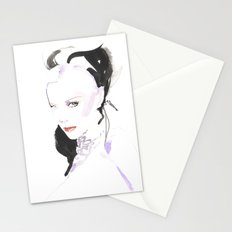 Fashion illustration in watercolors and ink Stationery Cards