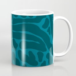 King Cheetah Print in Emerald Teal Coffee Mug