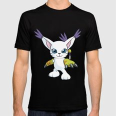DIGIMON - Gatomon Black Mens Fitted Tee MEDIUM