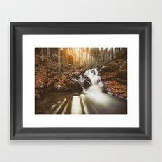 Autumn waterfall II Framed Art Print
