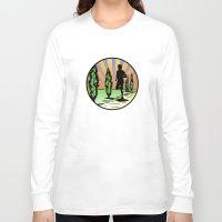 running Long Sleeve T-shirts featuring Running by Paul Simms