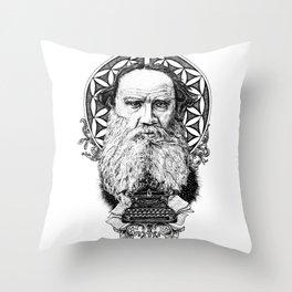 Tolstoy Throw Pillow