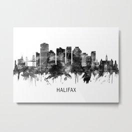 Halifax Canada Skyline BW Metal Print