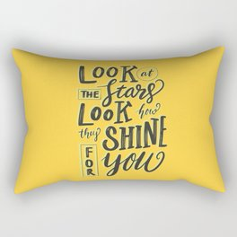 Look at the stars - Yellow Rectangular Pillow