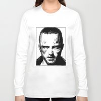 jesse pinkman Long Sleeve T-shirts featuring Breaking Bad - Jesse Pinkman by Aaron Campbell
