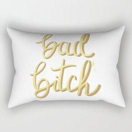 Bad Bitch Gold Sparkle Rectangular Pillow