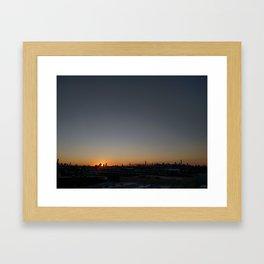 Manhattan @ Sunset Framed Art Print