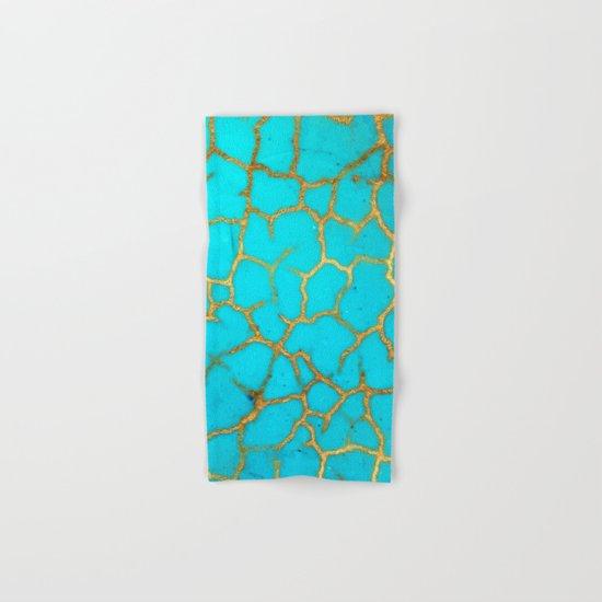 Turquoise Stone Hand & Bath Towel