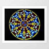 Zodiac Sacred Geometry Art Print