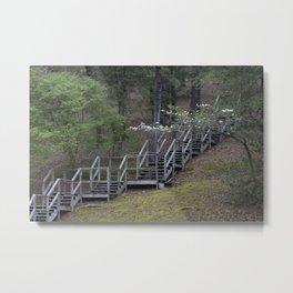 Dogwood Staircase Metal Print
