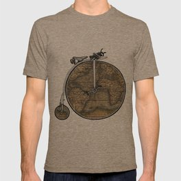 Penny Farthing Map T-shirt
